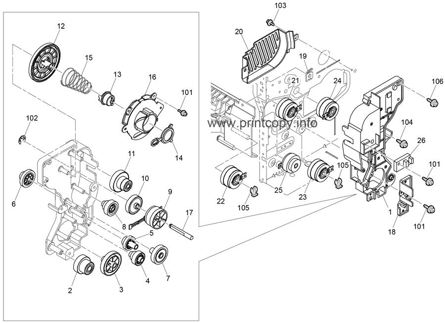 Parts Catalog > Ricoh > Aficio SP4510DN > page 17