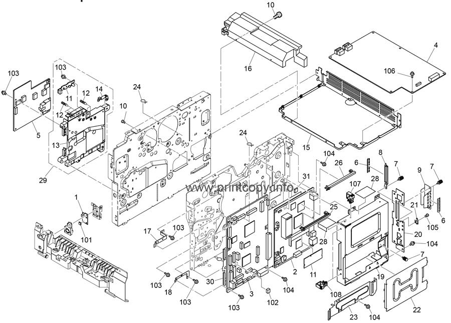 Parts Catalog > Ricoh > Aficio SP4520DN > page 18