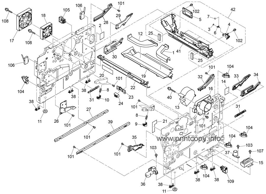 Parts Catalog > Ricoh > Aficio SP4510DN > page 19