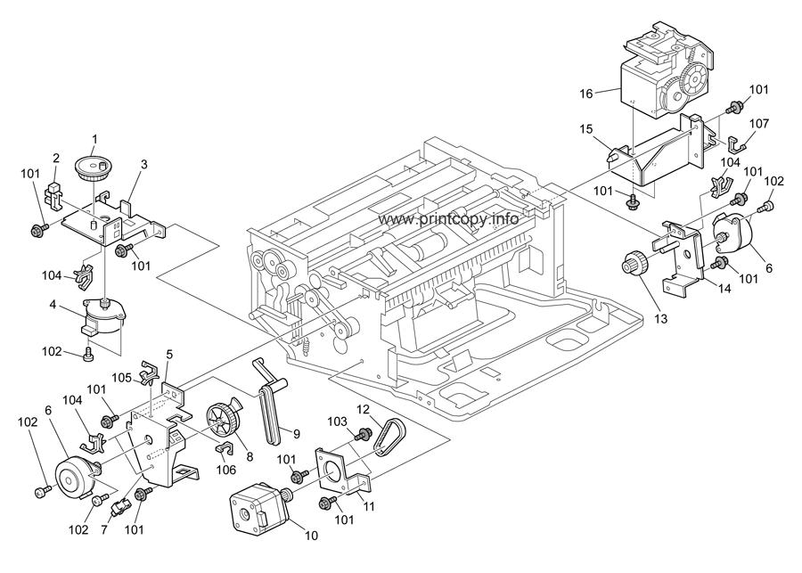 Parts Catalog > Ricoh > Aficio SP5210SR > page 33