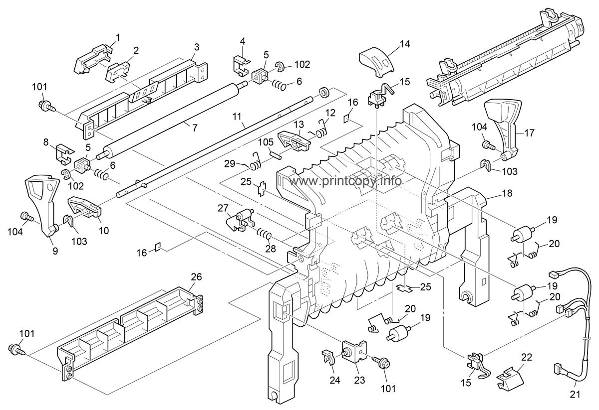Parts Catalog > Ricoh > Aficio SPC411DN > page 6