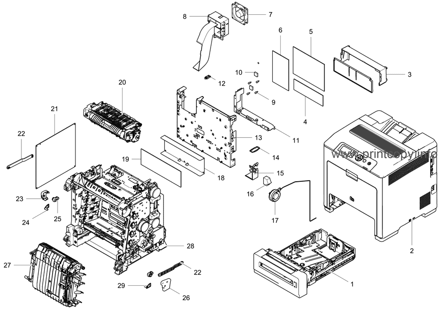 Parts Catalog > Samsung > CLP775ND > page 1