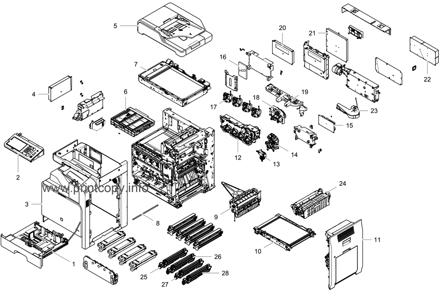 Parts Catalog > Samsung > CLX8640ND > page 1