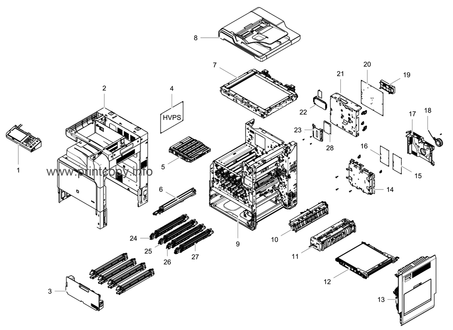 Parts Catalog > Samsung > CLX9251NA > page 1