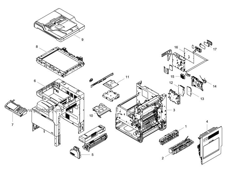 Parts Catalog > Samsung > SCX8128NA > page 1