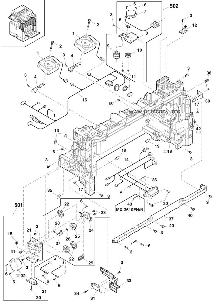 Parts Catalog > Sharp > MX3110N > page 60