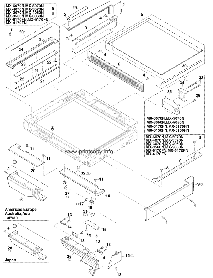 Parts Catalog > Sharp > MX5070N > page 1
