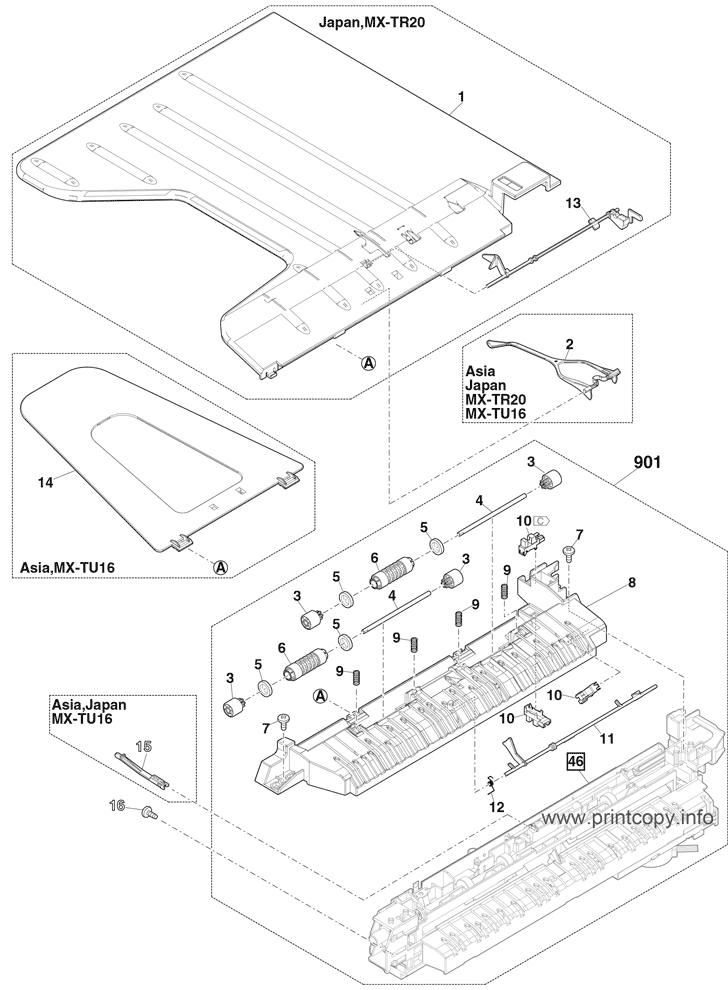 Parts Catalog > Sharp > MXM3070 > page 45