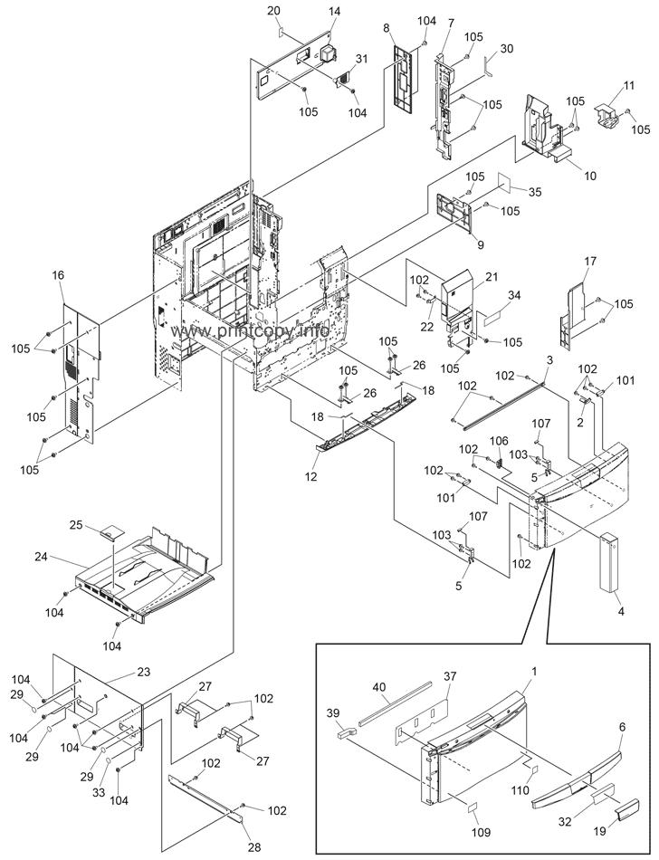 Parts Catalog > Toshiba > e-Studio 4540c > page 1