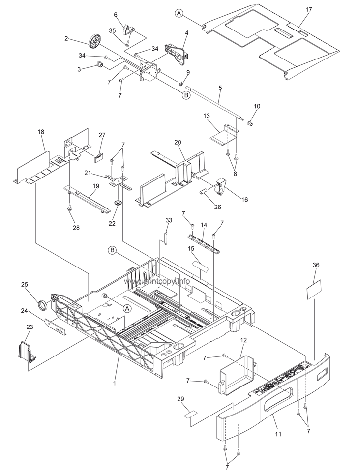 Parts Catalog > Toshiba > e-Studio 455 > page 36
