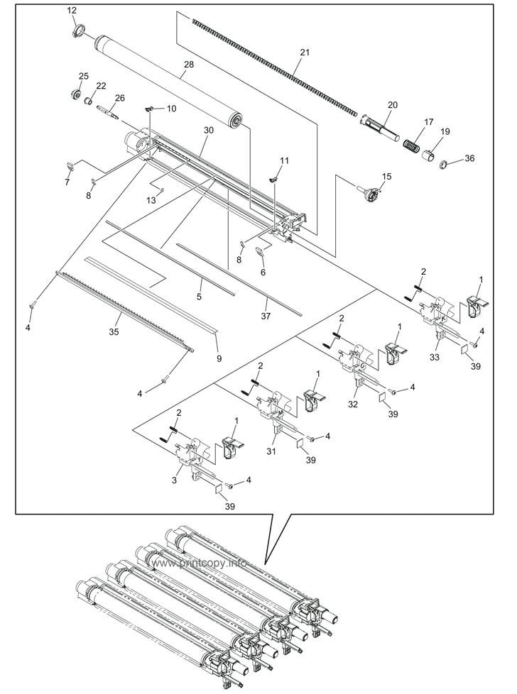 Parts Catalog > Toshiba > e-Studio 4555c > page 34