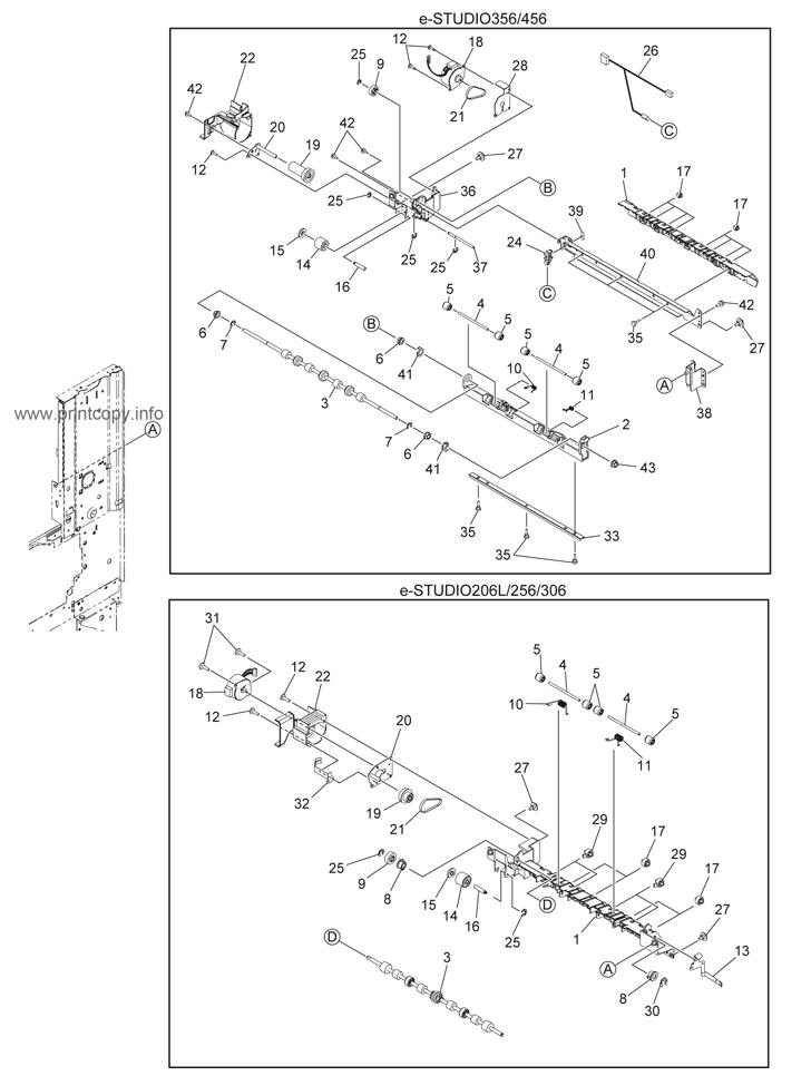 Parts Catalog > Toshiba > e-Studio 456 > page 33