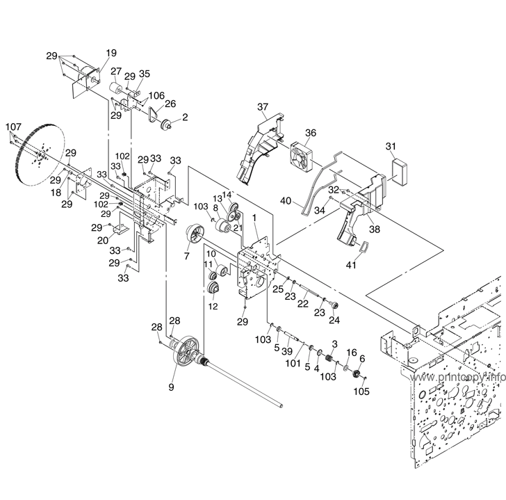 Parts Catalog > Toshiba > e-Studio 351c > page 14