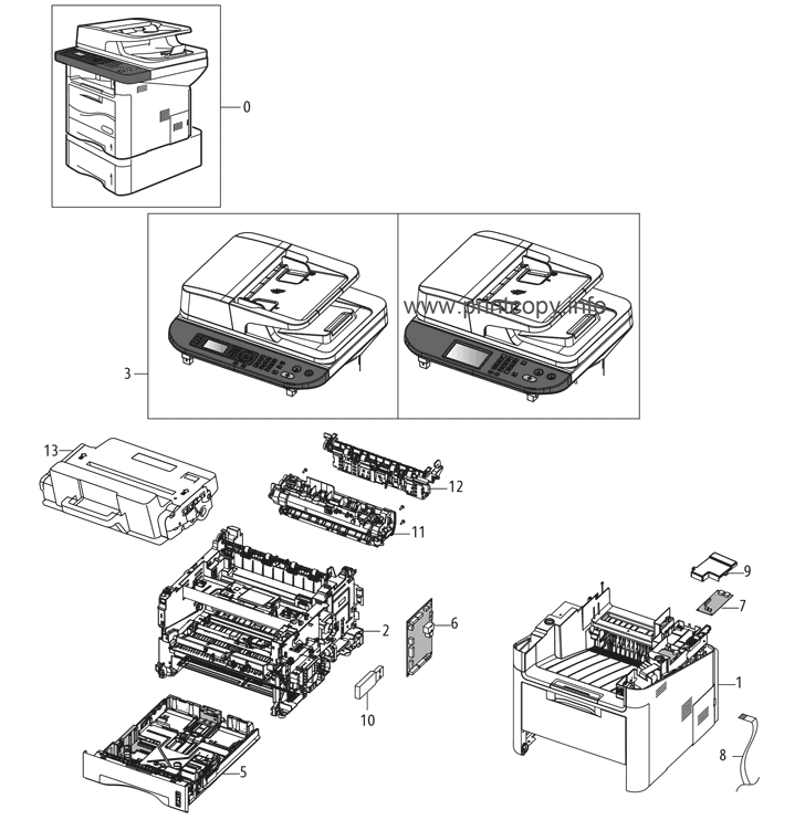 Parts Catalog > Xerox > WorkCentre 3315 > page 16