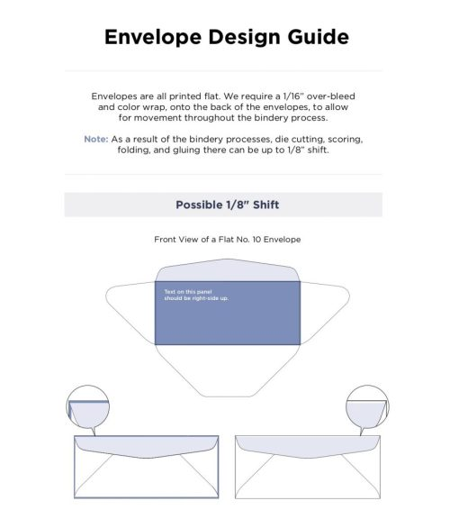 small resolution of the envelope design guide was created to help you get your files set up correctly before submitting for print you can be rest assured though that each file