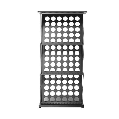 Brochure Stand Holder A3 with Table Top (Zig Zag Stand) Black - Front