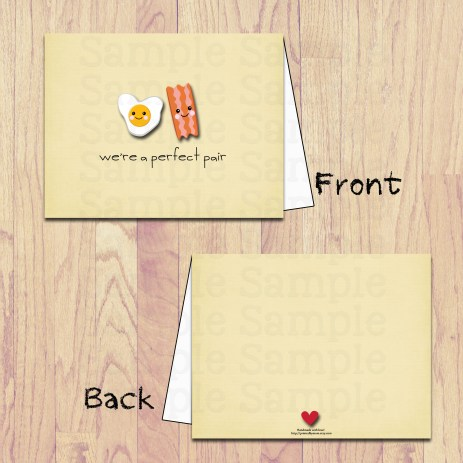 pbm- eggs and bacon card board