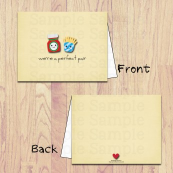 pbm- fries and katchup card board