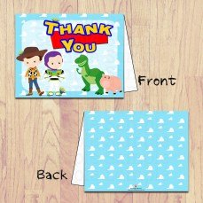 pbm- toy story thank you card board