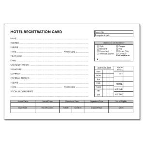 HOTEL REGISTRATION CARD