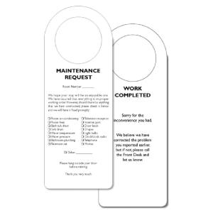MAINTENANCE REQUEST DOOR HANGERS