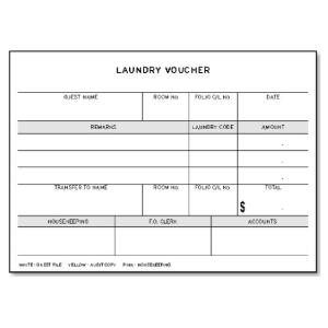LAUNDRY VOUCHER PADS