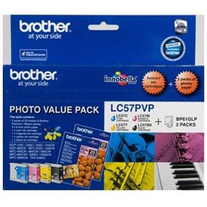 brother lc57 value pack 4 pack