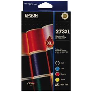 epson 273xl value pack 4 pack ink cartridge
