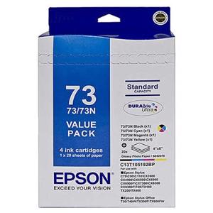 epson 73n value pack 4 pack ink cartridge