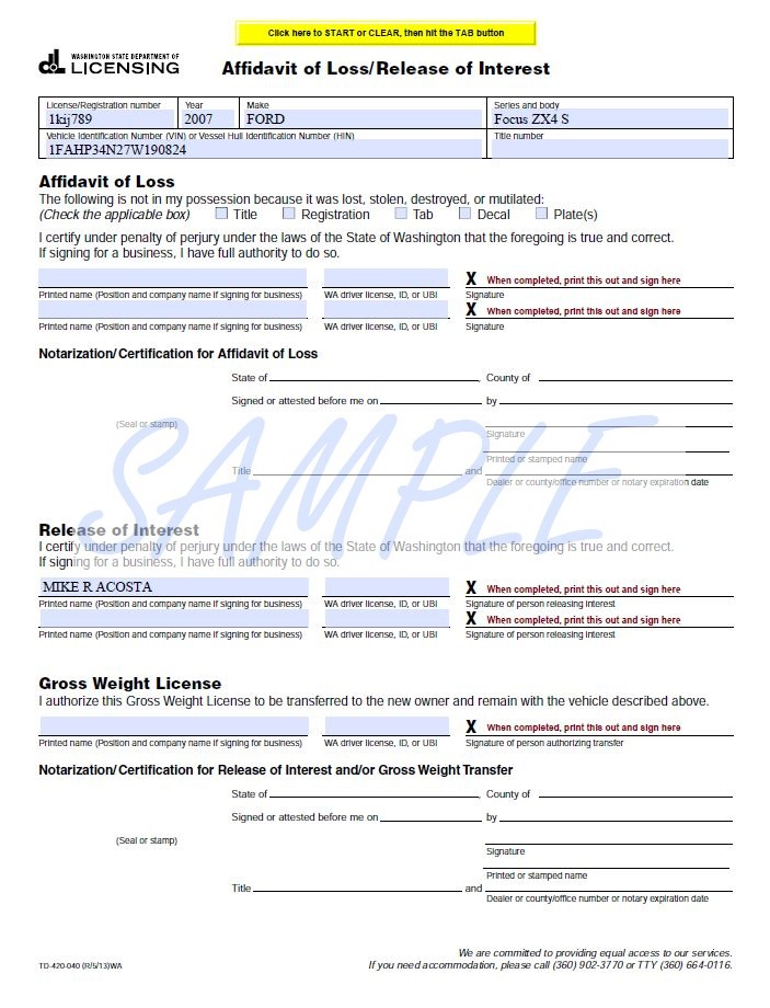 Florida Vehicle Registration Number