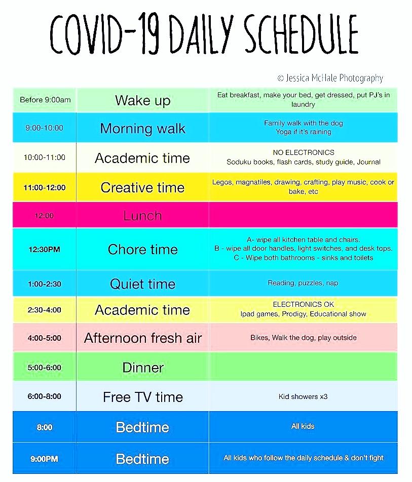 covid-19 schedule