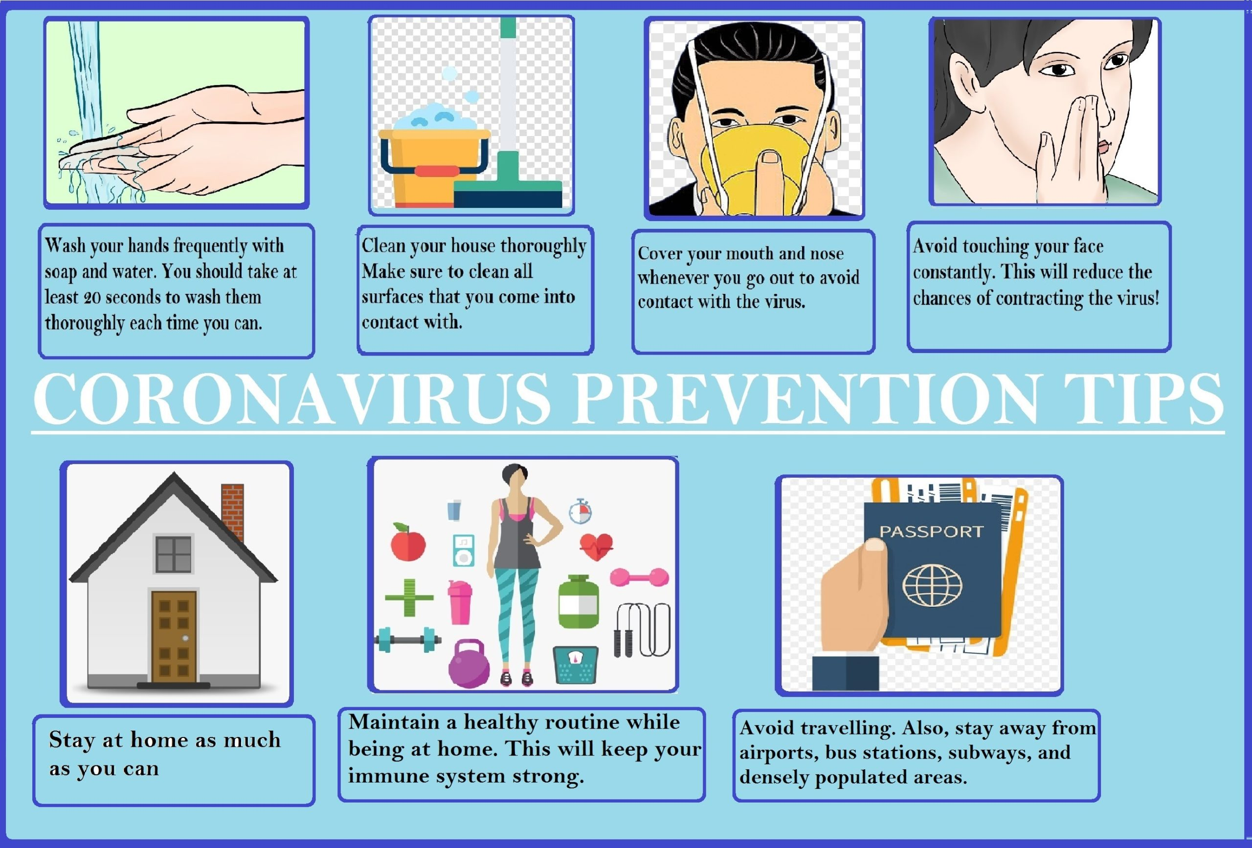 Printable coronavirus precautions poster