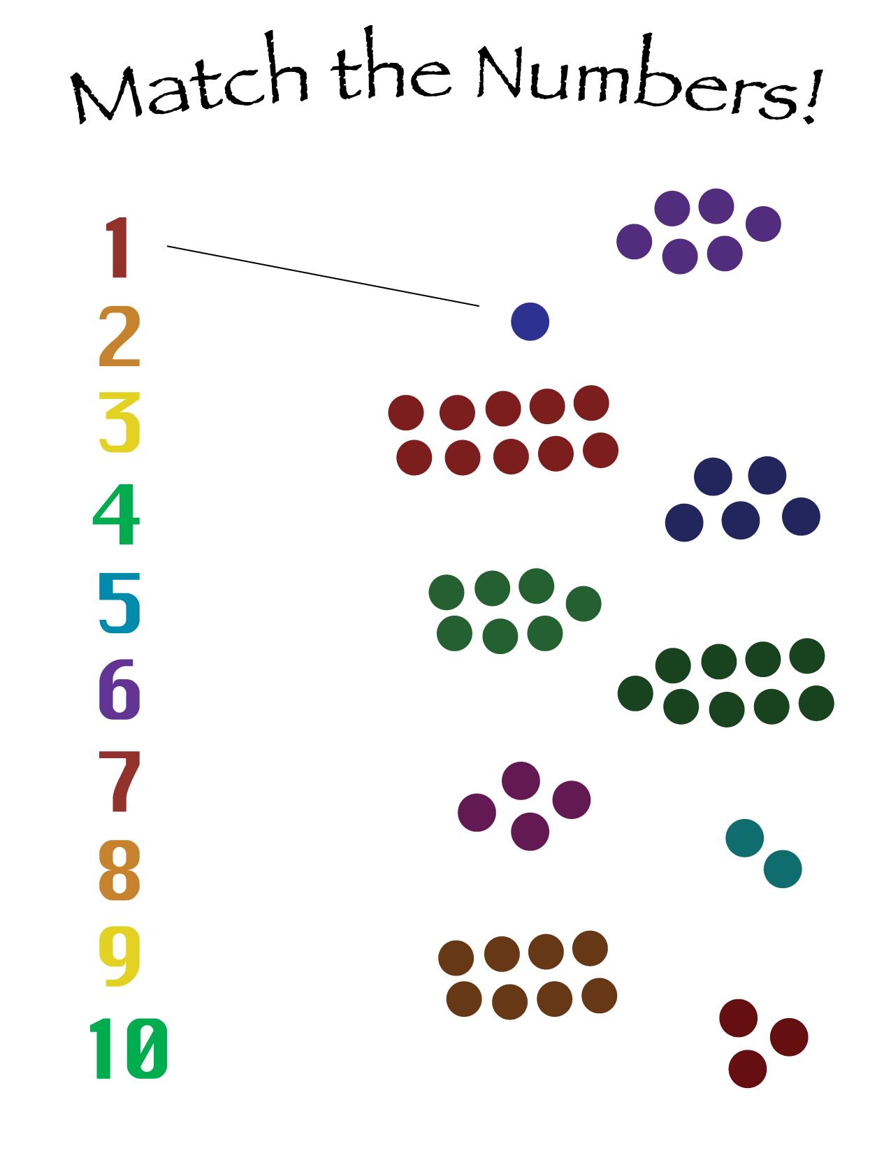 Number-match math sheet