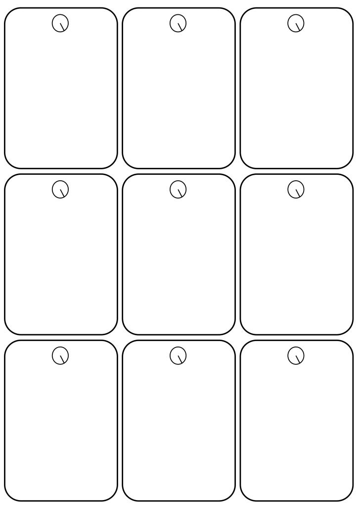 simple printable christmas tag