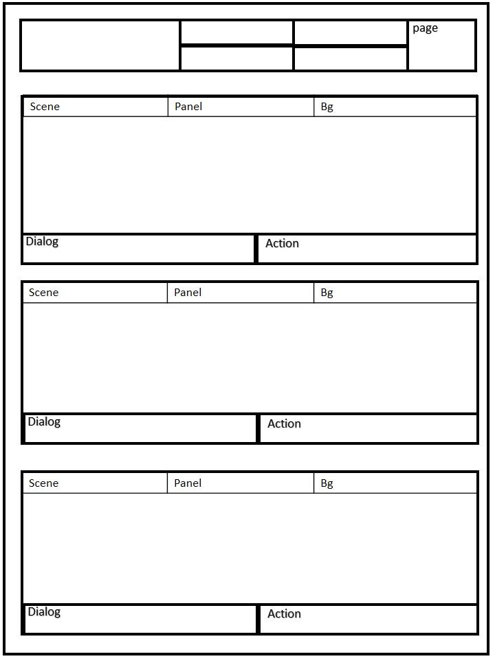 Basic template storyboard horizontal
