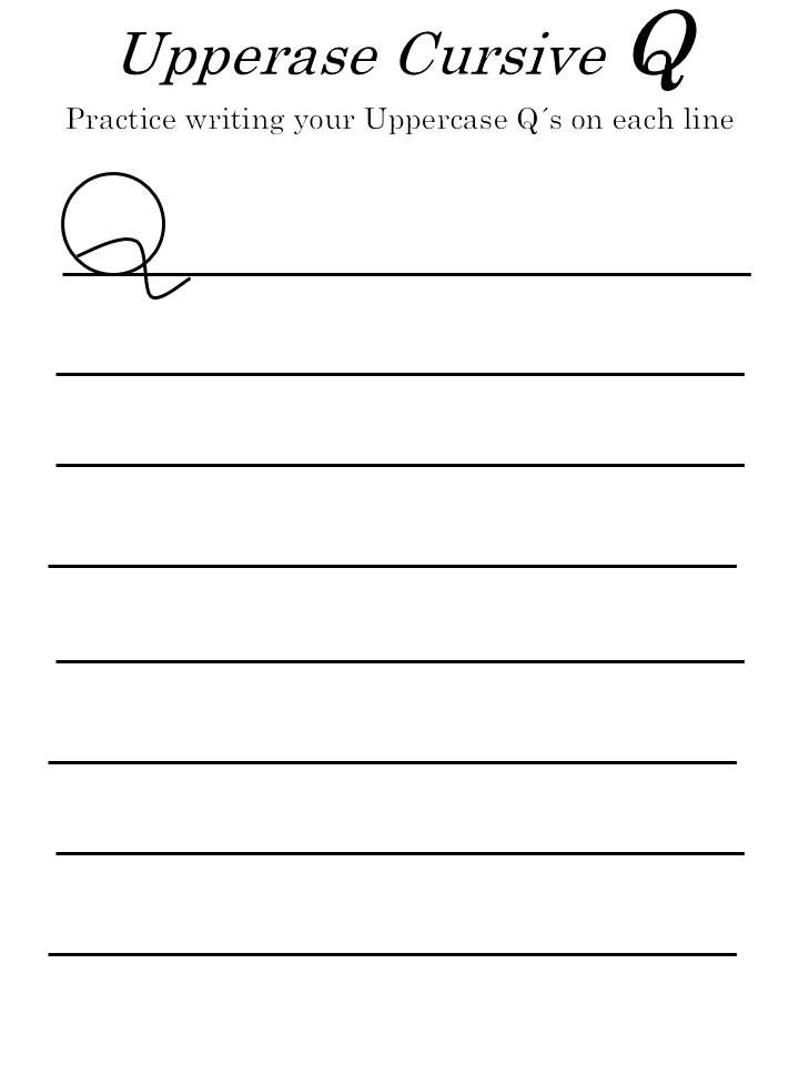 letter q worksheets uppercase letter 'Q'