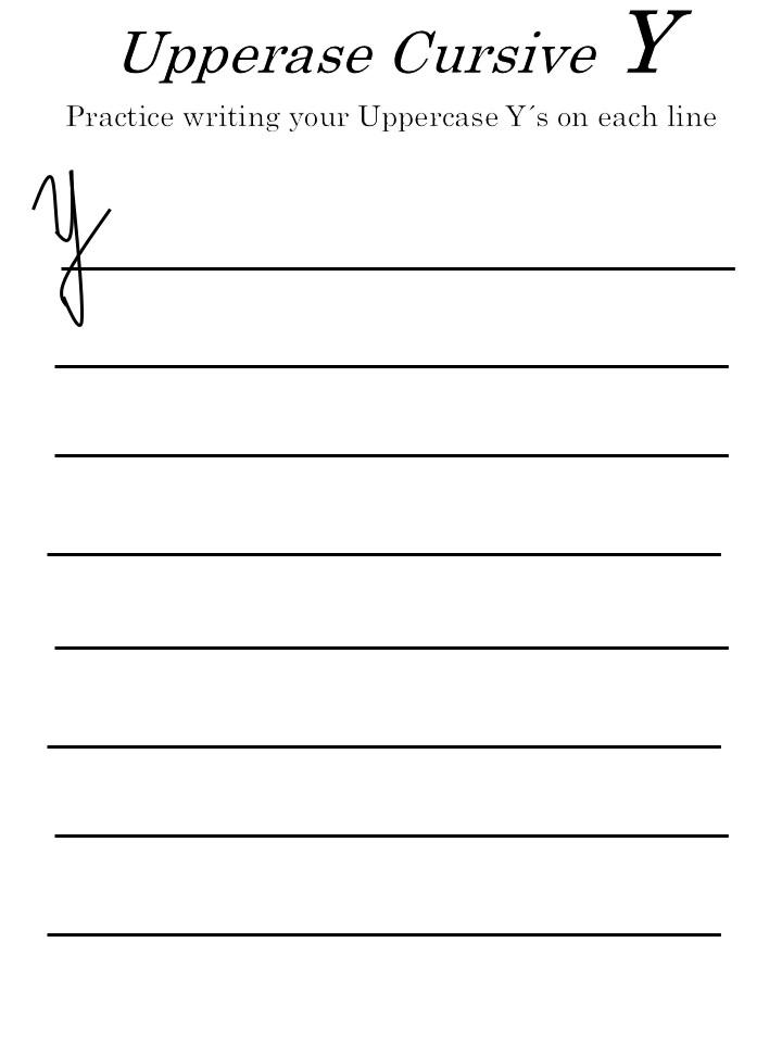 uppercase letter 'Y' worksheets