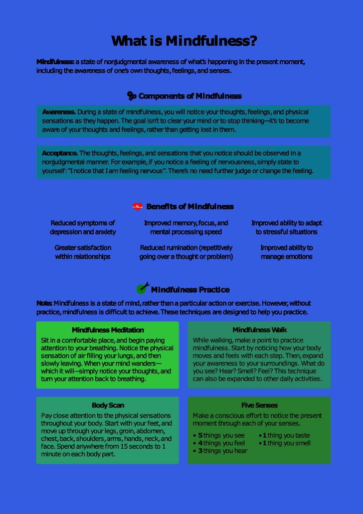DBT Worksheet mindfulness