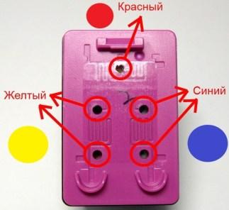 Расположение цветов в новом картридже HP 122