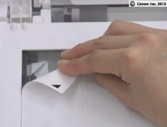 Правильное положение образца в сканере