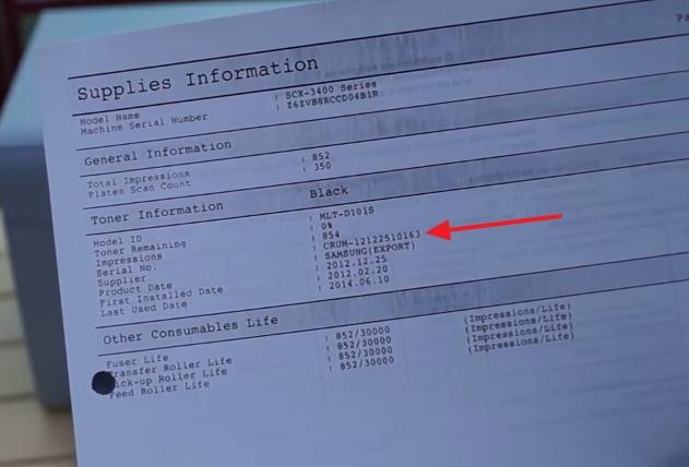 Отчет Supplies Information