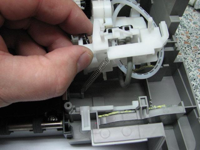 установка узла и пружинка