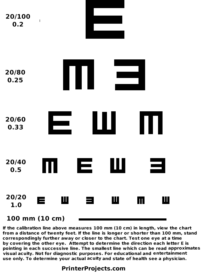 Printable Eye Charts