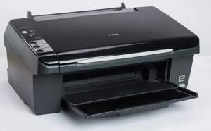 Selecting epson scan settings.