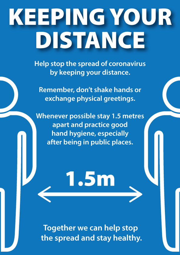 Covid Poster - Keep your distance