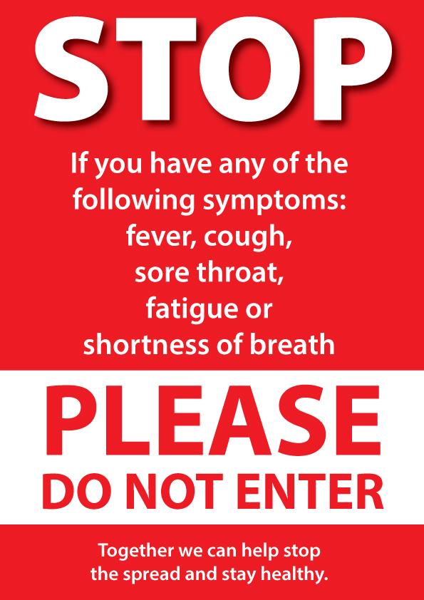 Covid Poster - Do Not Enter
