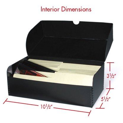 Negative box for 35mm and 120 film with interior dimensions