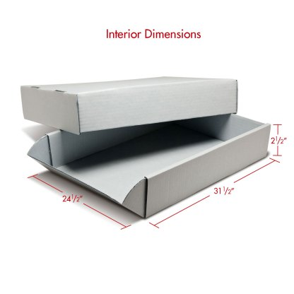 24x31 Corrugated Box with dimensions