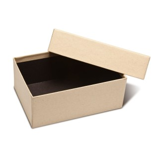 4x6x2.5 Kraft Proof Box- shown opened