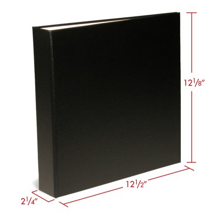 OB-BINDER1.5BLK album with dimensions